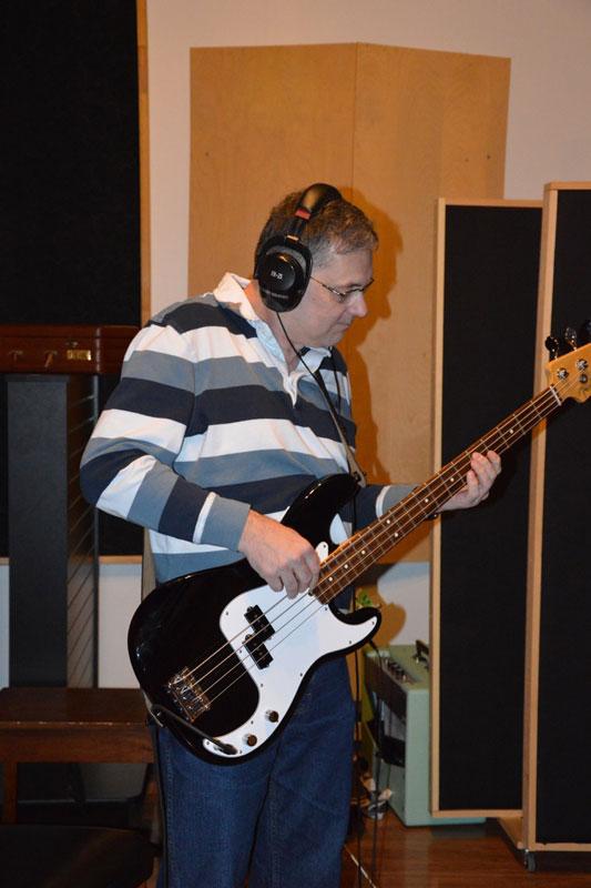 Scott Playing in the Studio