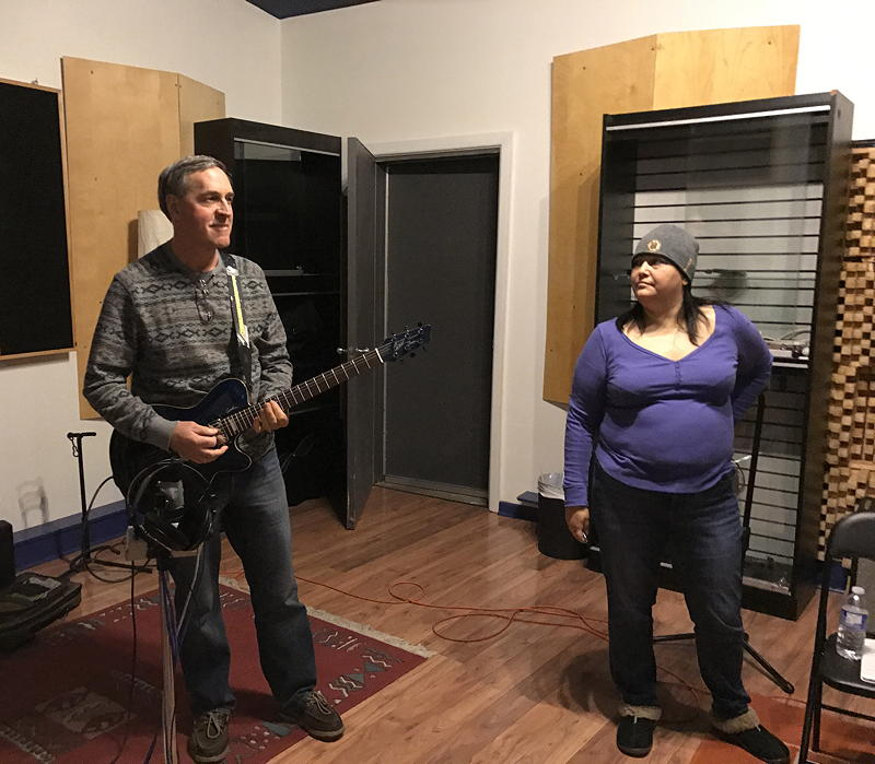 Marc and Karen in the Studio