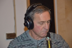 Marc Concentrating in the Studio