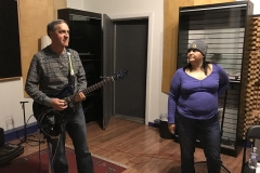 Marc and Karen in the Studio